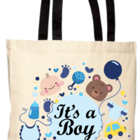 Baby Shower It's A Boy Gift Tote Bag