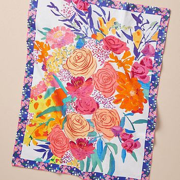 Paint + Petals Dish Towel