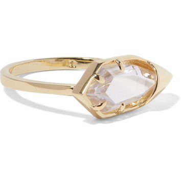 White Glow gold-tone crystal ring | Noir Jewelry | US | THE OUTNET