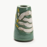 Green and Yellow Nails Cone Vase | Bari Ziperstein
