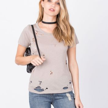 Destroyed Open Back Tee