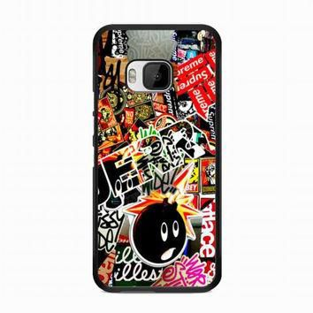 Sticker Bomb Supreme and illest For HTC One M9 case