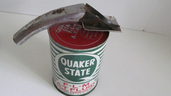Oil Can Opener With Oil Spout Funnel From Revintagelannie
