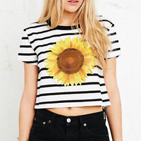 Truly Madly Deeply Sunflower Crop Tee - Urban Outfitters