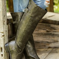 Wild Horses Riding Boots-Taupe/Gray