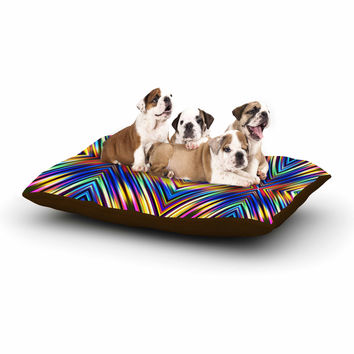 "Dawid Roc ""Multi Colors Modern Tribal"" Multicolor Tribal Dog Bed"