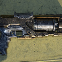 Blaster Movie Prop Replica Gun Pistol Steampunk Cosplay  Nerf Spectre Hand Painted
