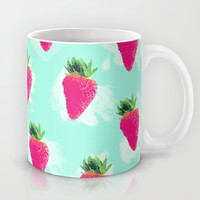 Watercolor Strawberry Mug by Jacqueline Maldonado