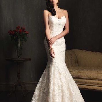 Allure Bridals 9072 Lace Mermaid Wedding Dress