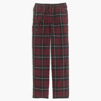 J.Crew Mens Flannel Pajama Pant In Burgundy Plaid
