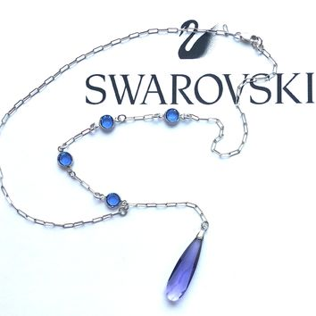 Lariat Crystal Necklace with Swarovski Elements