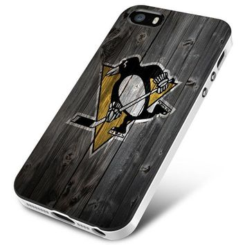 Pittsburgh Penguins (wood) iPhone 5 | 5S | 5SE Case Planetscase.com