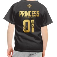 Princess 01 t-shirt with Golden letters