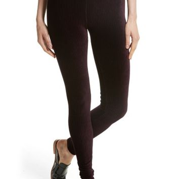 Free People Here We Go High Waist Stripe Velvet Leggings | Nordstrom