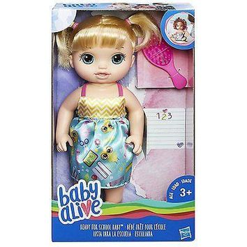 Baby Alive Ready For School Baby Doll (Blonde) NEW