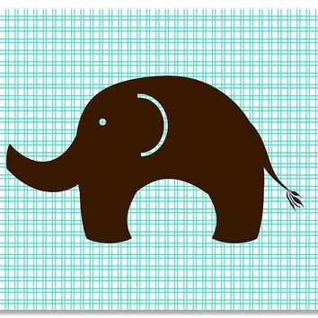 Elephant Children's Print Wall Art