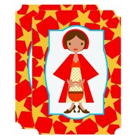 Red Riding Hood Girl Birthday Party Invitation