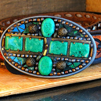Tourquoise Belt buckle
