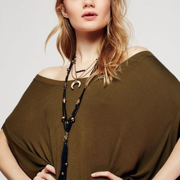 Free People South of The Border Leather Necklace