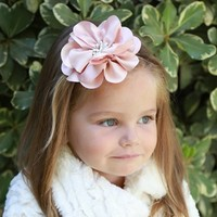 PLH Bows & Laces Large Satin Flower Headband