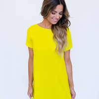 Shift Dress- Yellow