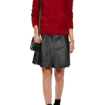 Leather mini skirt by Michael Kors