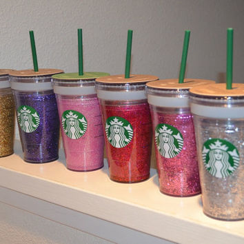 Glitter Cup  Starbucks Grande Cold Beverage by TwistedGemsSD