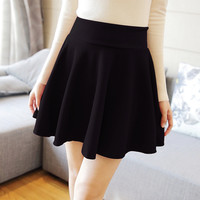 Women Skirt Fashion Fall Winter Skirts Plus Size XL High Waist Pleated Skirt Black Tennis Skater