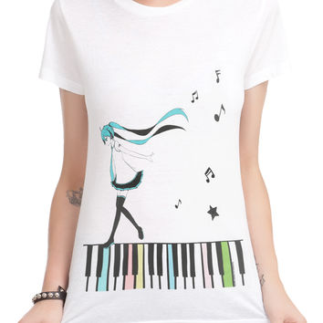 Hatsune Miku Piano Song Girls T-Shirt