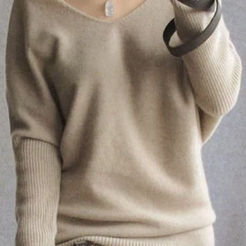 V-Neck Long Sleeves Sweater