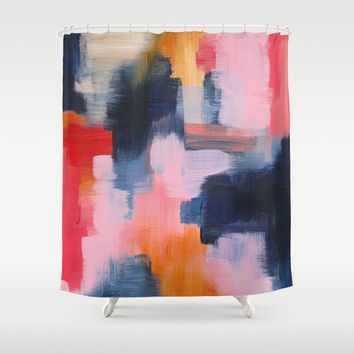 Improvisation 66 Shower Curtain by vivigonzalezart