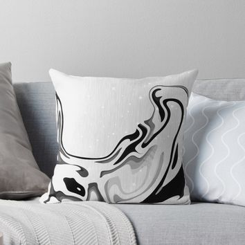 'Elegant Liquid Marble Waves Design' Throw Pillow by oursunnycdays