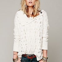 Free People  Oversized Cable Poncho at Free People Clothing Boutique