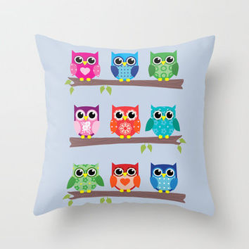 owl Throw Pillow by notbook | Society6