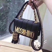 ''MOSCHINO''Women Leather Shoulder Bag Crossbody Satchel