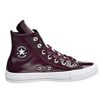 Converse Women's Chuck Taylor Hi Women's Sneakers In Burgundy 100% Leather