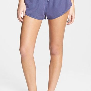 Junior Women's Volcom 'Stand Up' Cotton Shorts,