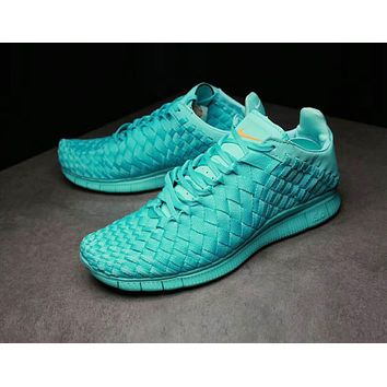 Nike Lab Free Inneva Woven Mid Popular Men Personality Sport Running Shoe Sneakers Full Sky Blue I-AHXF