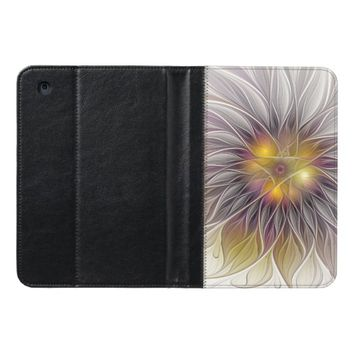 Luminous Colorful Flower, Abstract Modern Fractal iPad Mini Case
