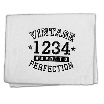 "Vintage Birth Year Distressed Personalized 11""x18"" Dish Fingertip Towel by TooLoud"