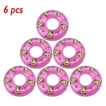 Swimming Pool beach Doll accessories 6 PCS Children's Bath Small Swimming Ring Toy Doll Lifebuoy for baby toys for girls cute kids' bath toysSwimming Pool beach KO_14_1