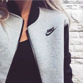 """NIKE"" Women Fashion Zip Cardigan Jacket Coat"