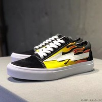 """""""Vans Revenge x Storm"""" Unisex Casual Fashion Personality Flame Lightning Skateboard Plate Shoes Couple Sneakers"""