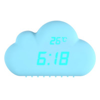 Digital Alarm Clock Blue Cloud Shape Sound Control Alarm Clocks Time Temperature Date Clock 155mm * 115mm * 55mm