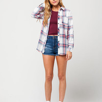 FULL TILT Washed Americana Womens Flannel Shirt | Shirts & Flannels