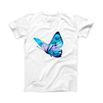 The Bright Graceful Butterfly ink-Fuzed Front Spot Graphic Unisex Soft-Fitted Tee Shirt