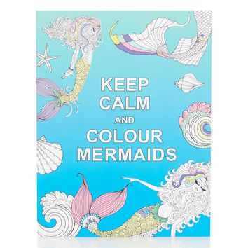 Keep Calm And Colour Mermaids Book - Bags & Accessories
