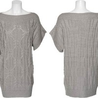 15DOLLARSTORE.COM - ROMEO & JULIET COUTURE Cable & Rib Knit Tunic