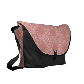 Dusty Pink Floral Pattern Courier Bags