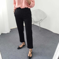 Pants Korean Casual Cropped Pants [9256411274]